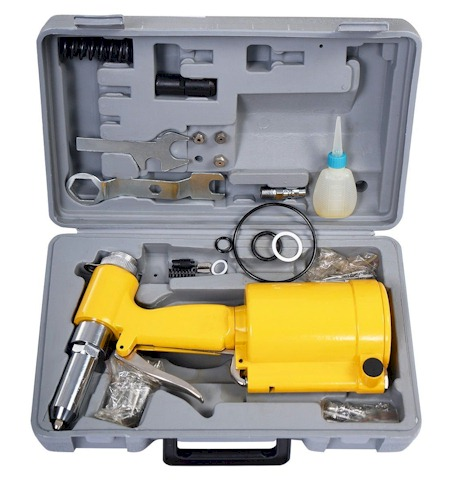 Pneumatic Pop Rivet Gun Riveter Riveting Tool with Case