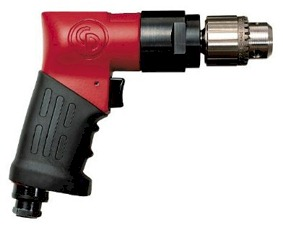 Chicago Pneumatic Pistol Style, Keyed Chuck 3/8-Inch Heavy Duty Reversible Drill