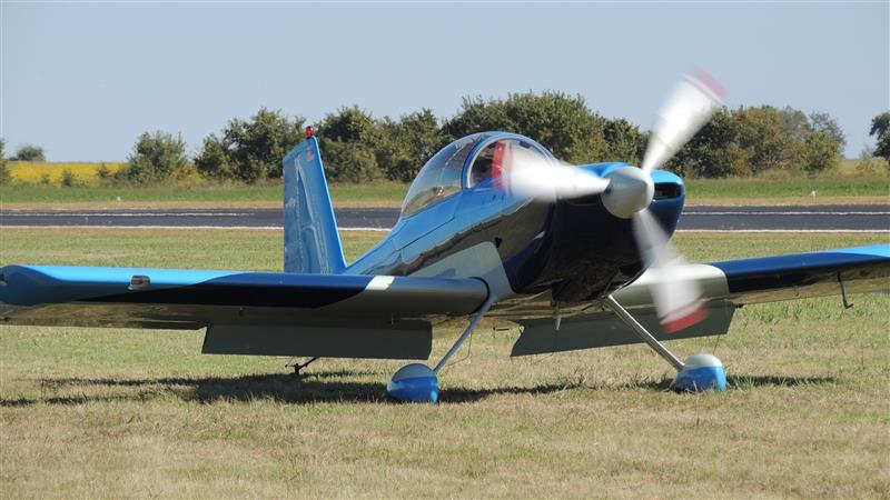 RV Builder Photo - RV-8 Looking a for parking spot at the Texas Antique Aircraft Fly-in